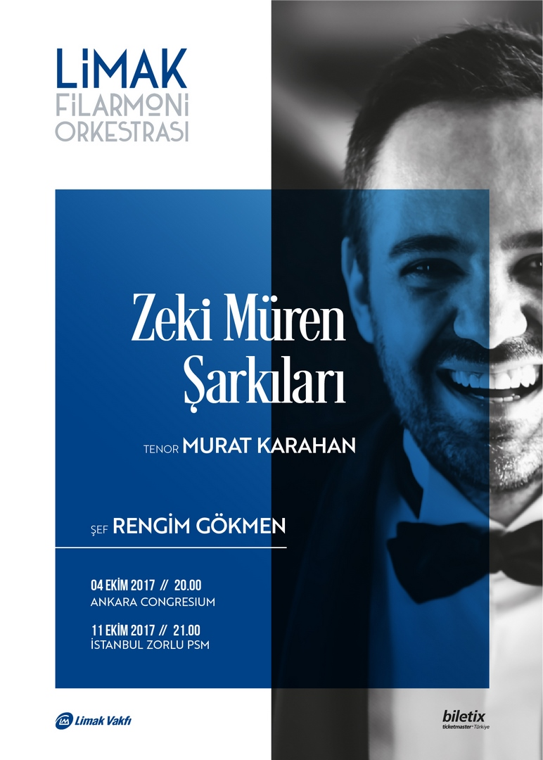 """LİMAK FİLARMONİ ORKESTRASI SUNAR: """"ZEKİ MÜREN ŞARKILARI"""