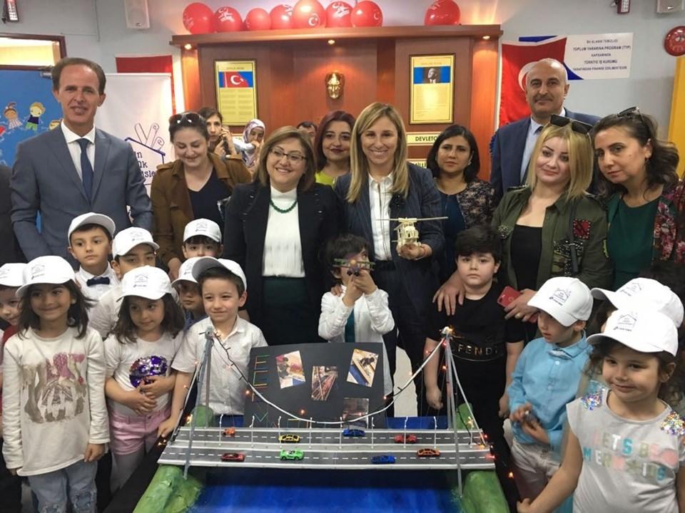 GAZİANTEP'te 1500 anaokulu öğrencisi aldıkları eğitim sonrası ilk mühendislik projelerini tamamladı