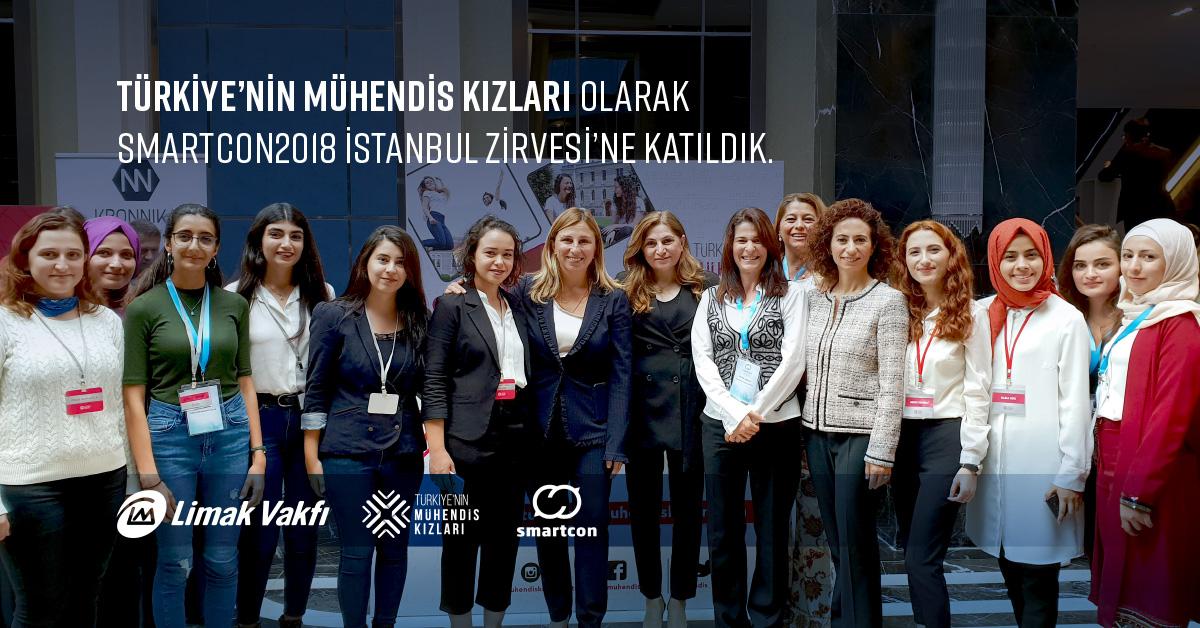 Türkiye'nin Mühendis Kızları, Smartcon2018 İstanbul Zirvesi'ne Katıldı.